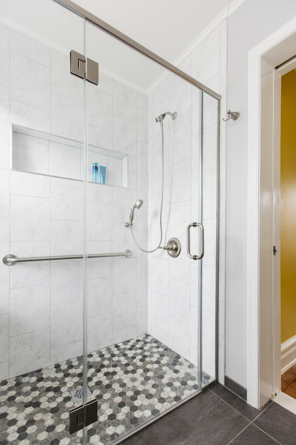 accessible design, curbless shower, bathroom trends 2019